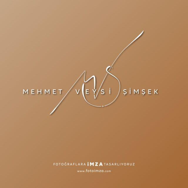 Mehmet minimal imza logo örneği