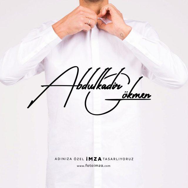Abdulkadir isme özel imza örnekleri